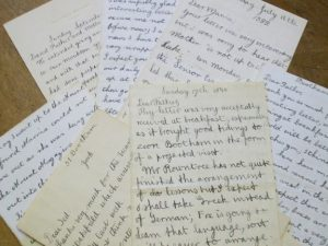Photographs of letters.