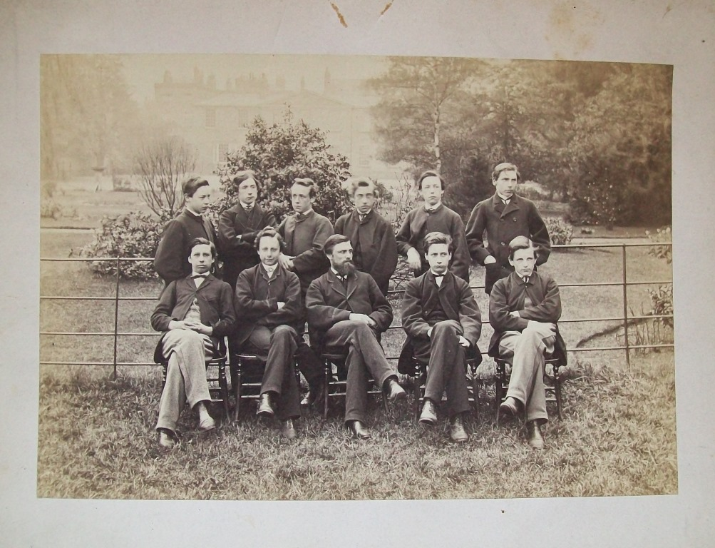 Leavers Photograph 1867 (Silvanus P. Thompson is on the back row on the left hand end).