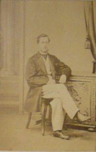 George Scarr Watson (1842-1929; Bootham 1853-58). Photograph from 1866 John Ford Memorial.