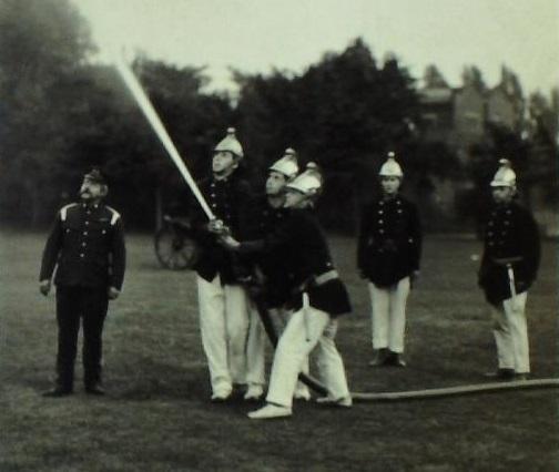Photograph of Bootham School Fire Brigade, 1911.