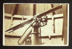 Photograph of telescope in Observatory c1905.