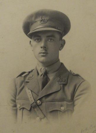 Photograph of Charles Frederick Burley in uniform.