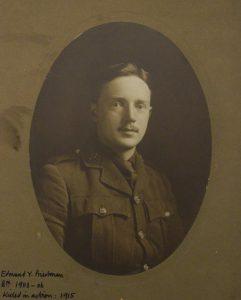 Photograph of Edmund Yerbury Priestman in uniform.