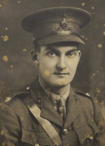 Photograph of Lawrence Edmund Rowntree in uniform, from Bootham School Archive.