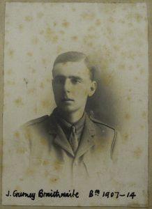 Photograph of Joseph Gurney Braithwaite in uniform.