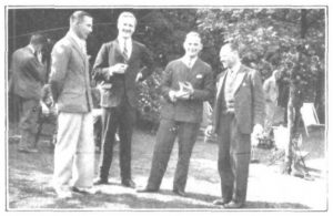 Photograph of four Old Scholars at the 1930 Whitsun reunion in York.