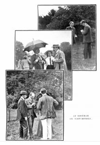 Three photographs of Whitsun gathering at Bootham School in 1912.