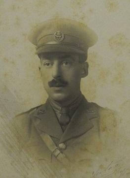 Photograph of Edgar Hubert Maleham in uniform.